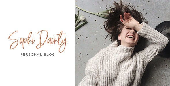 Sophi Dainty - Blog PSD Template - Personal Photoshop
