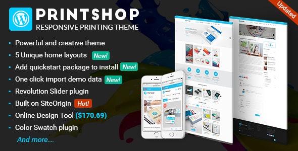 Printshop - WordPress Responsive Printing Theme by