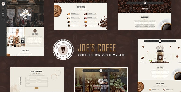 Joe Coffee - A Psd Template for Cafes, Coffee Shops and Bars - Restaurants & Cafes Entertainment