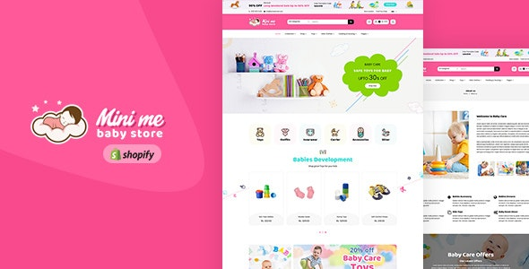 Mini Me - Baby Care Products Sectioned Shopify Theme - Shopify eCommerce