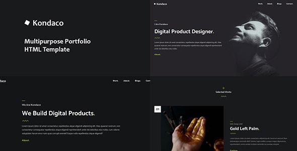Kondaco - Multipurpose Portfolio Template - Creative Site Templates