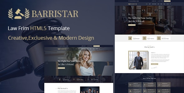 Barristar – Lawyers Attorneys and Law Firm HTML Template - Business Corporate