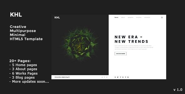 KHL - Modern, Multipurpose, Minimal HTML5 Template - Creative Site Templates