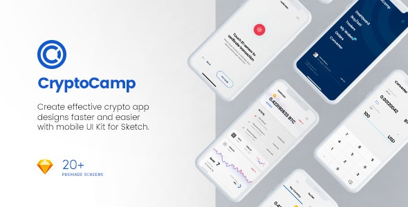 CryptoCamp Mobile UI Kit - Sketch UI Templates