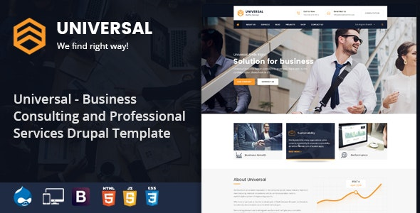 Universal - Consulting Business Drupal Theme - Business Corporate