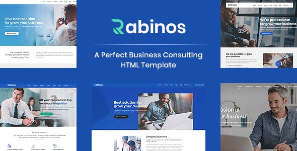 Rabinos - Consulting Business HTML Template - Business Corporate