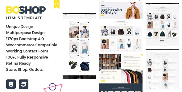 BoShop - Multipurpose eCommerce HTML5 Template - Retail Site Templates
