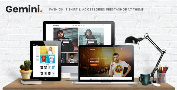 Gemini - Fashion, T Shirt & Accessories Prestashop 1.7 Theme - Fashion PrestaShop