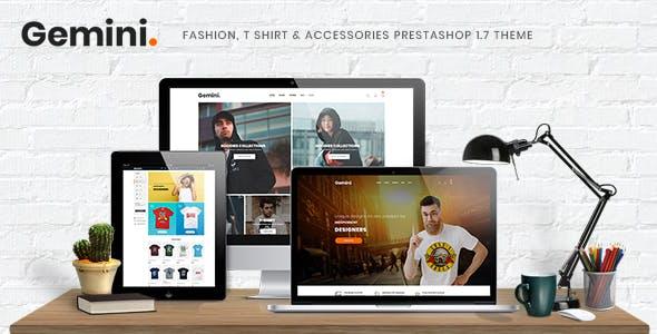 Gemini - Fashion, T Shirt & Accessories Prestashop 1.7 Theme