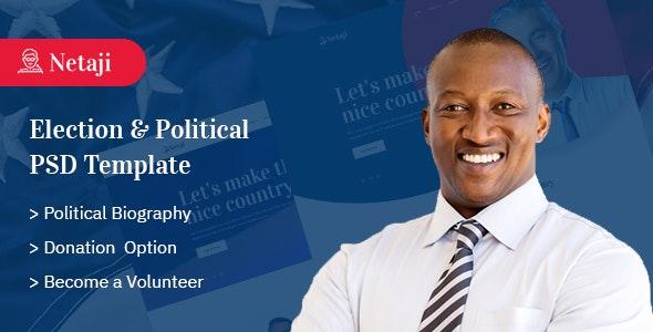Netaji - Election & Political PSD Template - Political Nonprofit