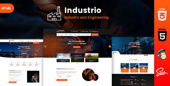 Industrio - Industrial Industry & Factory - Business Corporate