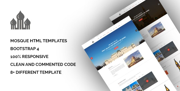 Mosque - Bootstrap Responsive HTML5 Template - Nonprofit Site Templates