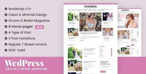 WedPress - Responsive WordPress Wedding Magazine / Newspaper Theme - Wedding WordPress