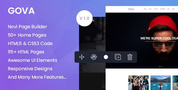 Gova - Professional Multipurpose Templates with Page Builder
