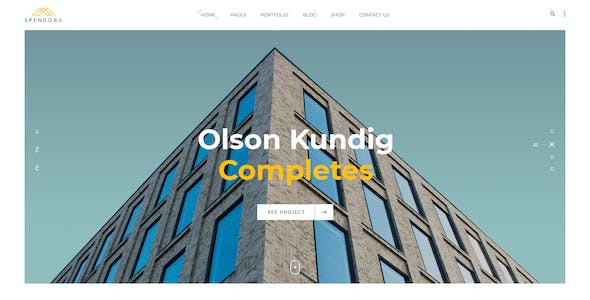 Spendora - Architecture and Building Business PSD Template