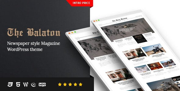 Balaton -  Newspaper style Magazine WordPress Theme - News / Editorial Blog / Magazine
