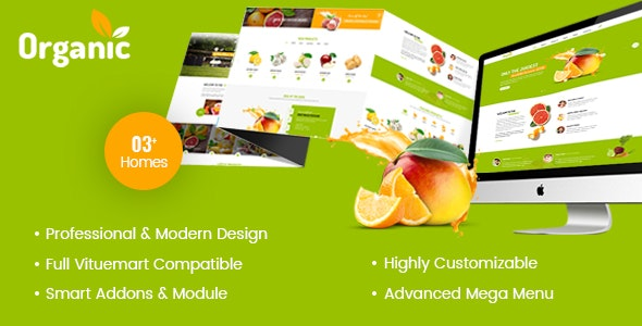 AmyOrganic - Organic and Healthy Theme for Joomla - Shopping Retail
