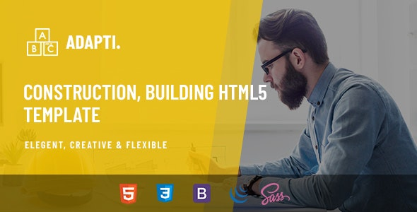 Adapti - Construction, Building HTML5 Template - Business Corporate