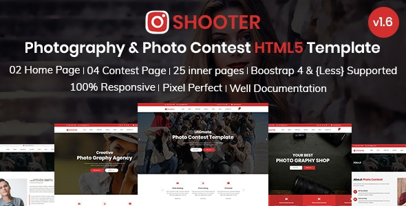 Shooter - Photography and Photo Contest Bootstrap 4 Template - Photography Creative