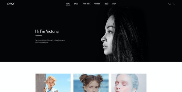 Cosy   Photography PSD Template