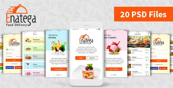 Enatega - Food Delivery Mobile App PSD by ogwebsolutions | ThemeForest