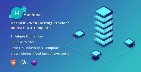 HasHost – Web Hosting Bootstrap 4 Template - Hosting Technology