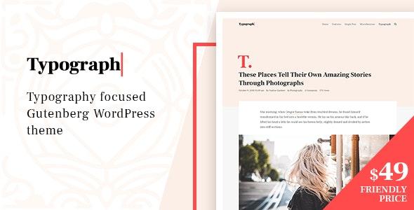 Typograph – Content Focused Gutenberg WordPress Blog Theme - Personal Blog / Magazine