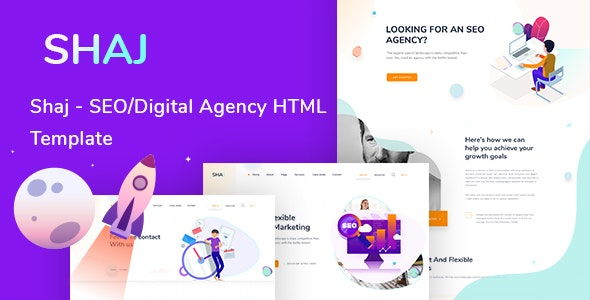 SHAJ-SEO & Digital Agency HTML Template - Corporate Site Templates