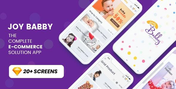 JoyBabby-Ecommerce App Template - Sketch UI Templates