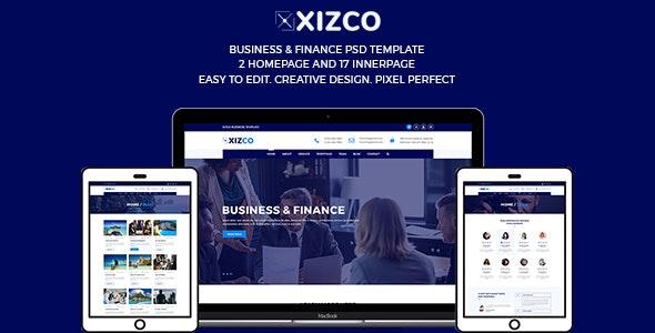 Xizco Multipurpose Business & Finance Template - Corporate Photoshop