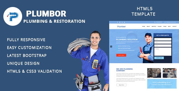 Plumbor - Plumber and Repair Services Maintenance HTML Template - Business Corporate