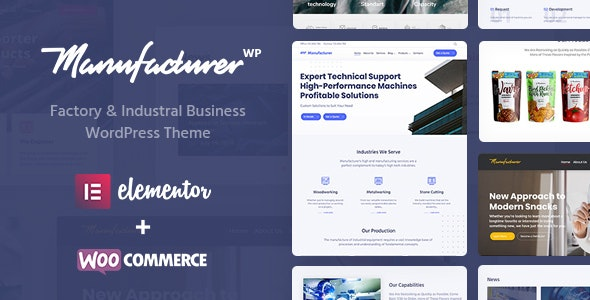 Manufacturer - Factory and Industrial WordPress Theme by