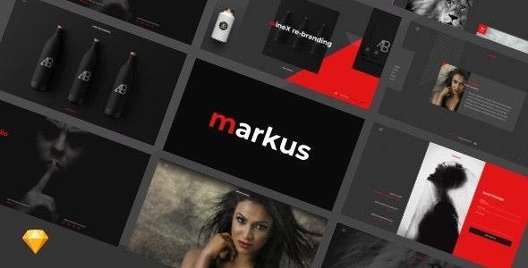 Markus – Creative Portfolio Full Screen Sketch Design - Sketch Templates