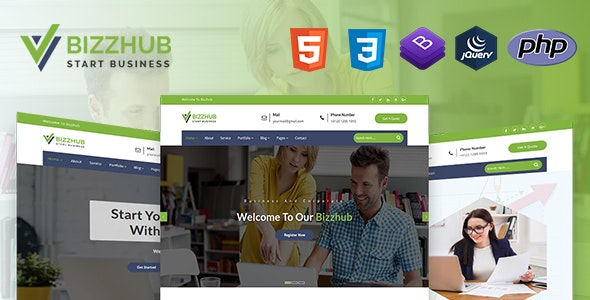 Bizzhub | Business And Corporate HTML5 Template - Business Corporate