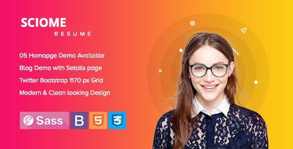 Sciome - Creative Resume & Portfolio HTML5 Template - Portfolio Creative