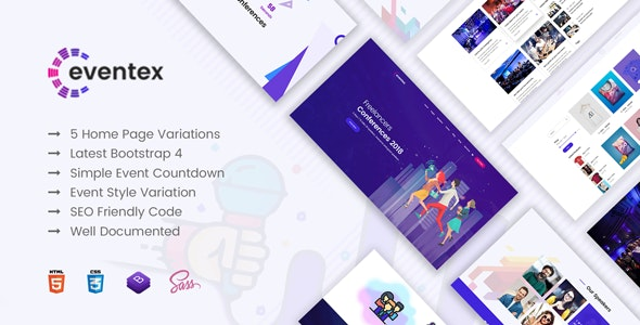 Eventex - Responsive Onepage Wordpress Theme - Events Entertainment