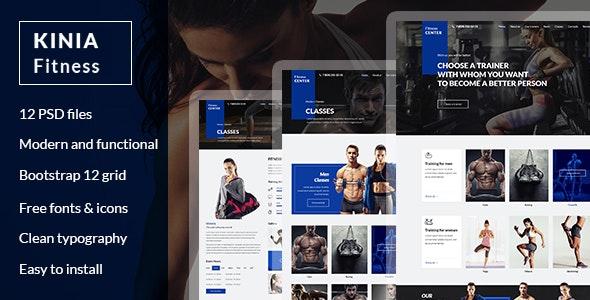 Kinia Fitness - PSD Template - Health & Beauty Retail