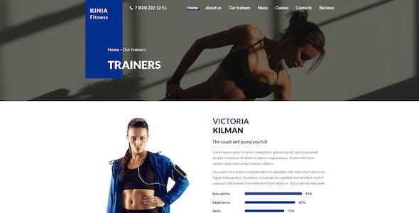 Kinia Fitness - PSD Template