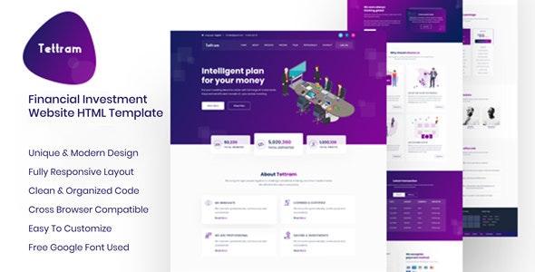 Tettram - Investment Website HTML Template - Business Corporate