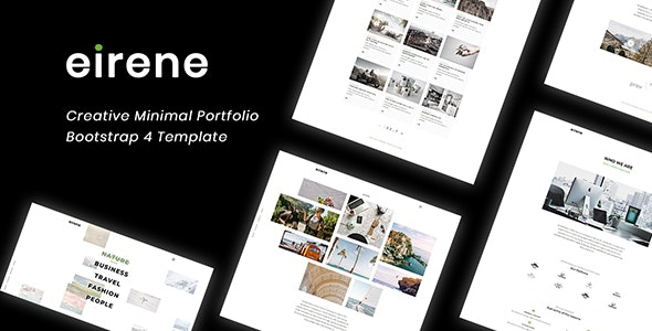 Eirene - Creative Minimal Portfolio Bootstrap 4 Template - Portfolio Creative