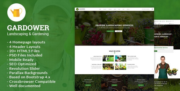 Gardower - Landscaping & Gardening HTML5 Template - Business Corporate