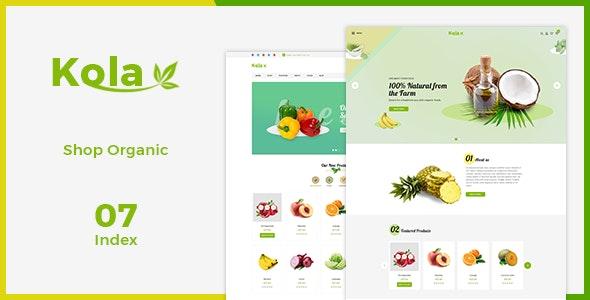 Kola - Fresh eCommerce PSD Template - Photoshop UI Templates