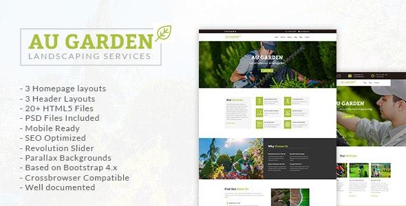 Au Garden - Landscaping & Gardening HTML5 Template - Business Corporate