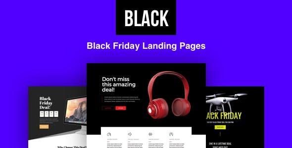 Black - Black Friday Landing Pages with Page Builder