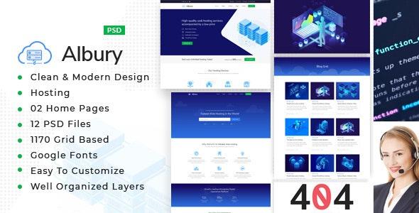Albury : Hosting PSD Template - Hosting Technology