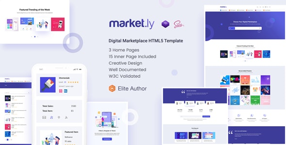 Marketly - Digital Marketplace HTML5 Template - Shopping Retail