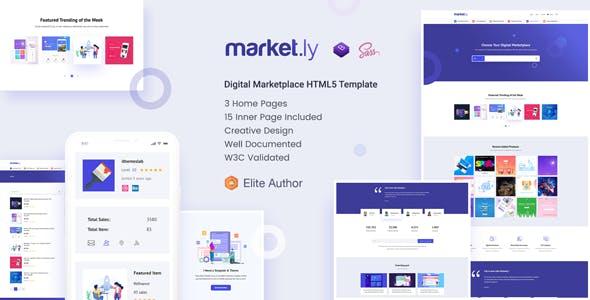 Marketly - Digital Marketplace HTML5 Template