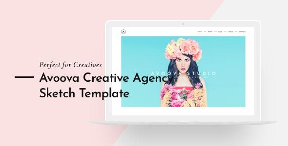 Avoova - Creative Agency - Sketch UI Templates