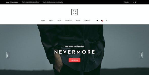 Azen - Clean, Minimal Shop PSD Template