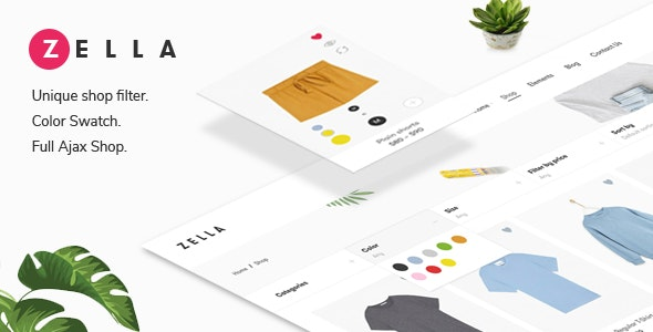 Zella - WooCommerce AJAX WordPress Theme - RTL support - WooCommerce eCommerce